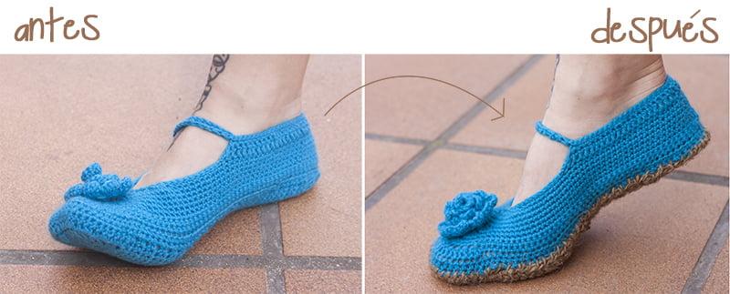 Suela para zapatillas de ganchillo ideas para - Ideas para hacer ganchillo ...