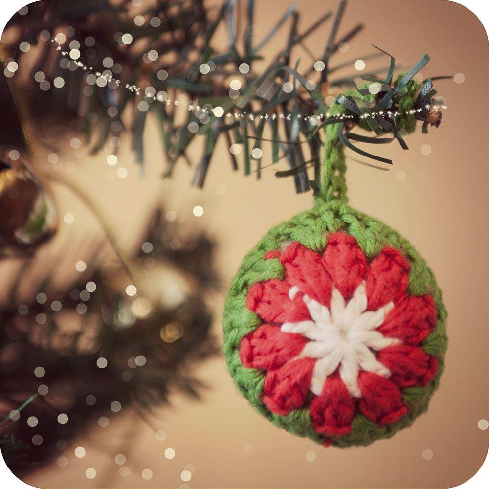 C mo hacer una bola de ganchillo para el rbol de navidad - Bola arbol navidad ...