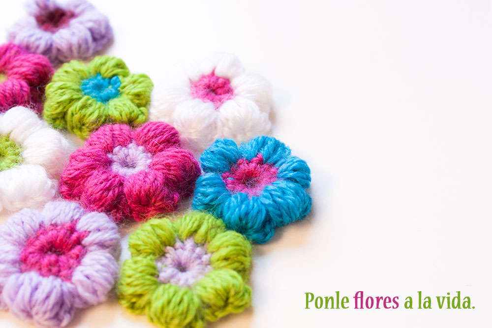 Como hacer flores en crochet car interior design - Hacer flores de ganchillo ...