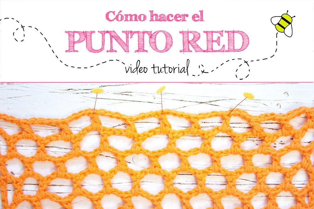 Cómo hacer el punto red o malla nido de abeja en ganchillo para bolsas de red de ganchillo