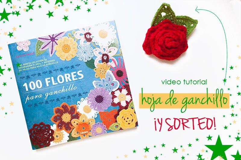 Vídeo tutorial cómo hacer una rosa y una hoja de ganchillo