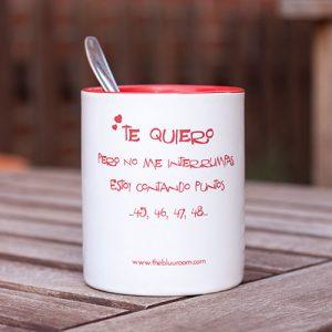 """Taza para té y ca´fe """"Te quiero pero no me interrumpas"""""""