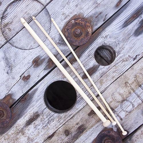Set 12 agujas de ganchillo tunecinas bambú