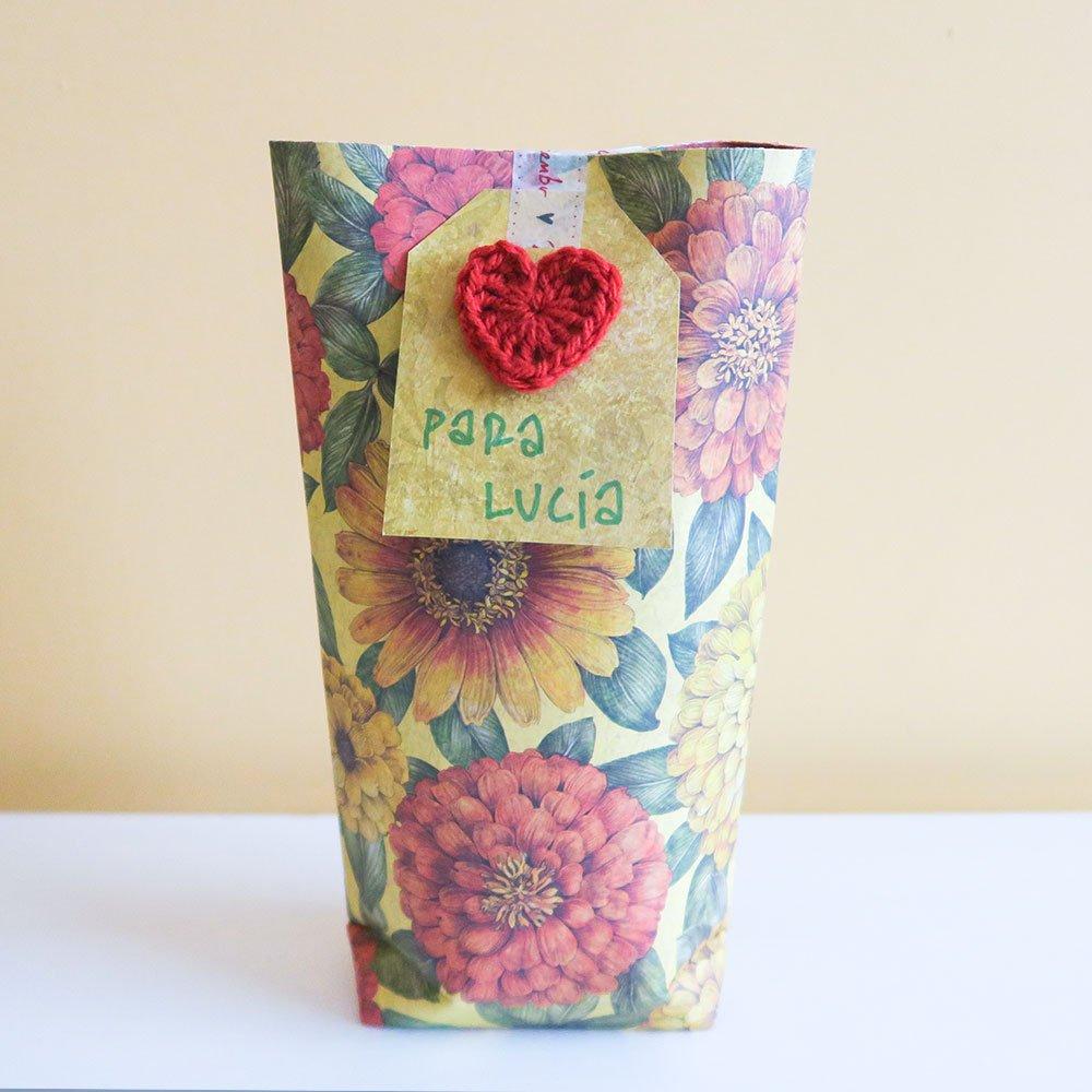 Bolsa de papel para regalo DIY