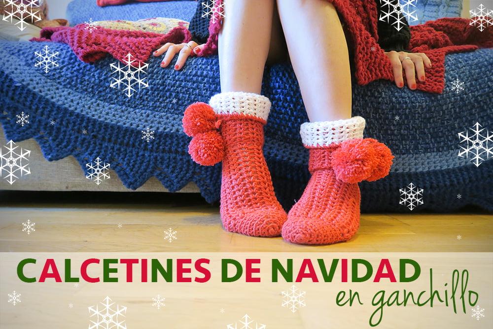 Tutorial calcetines de ganchillo para Navidad
