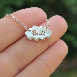 colgante de plata nube Bluü
