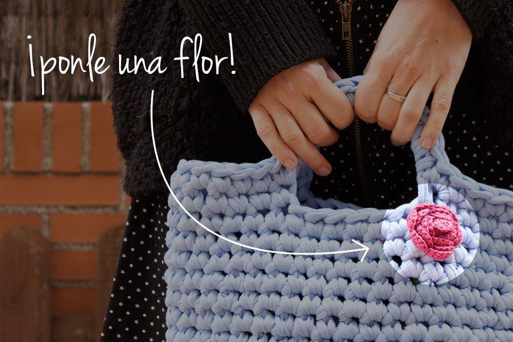Bolso de ganchillo con trapillo - Bluü