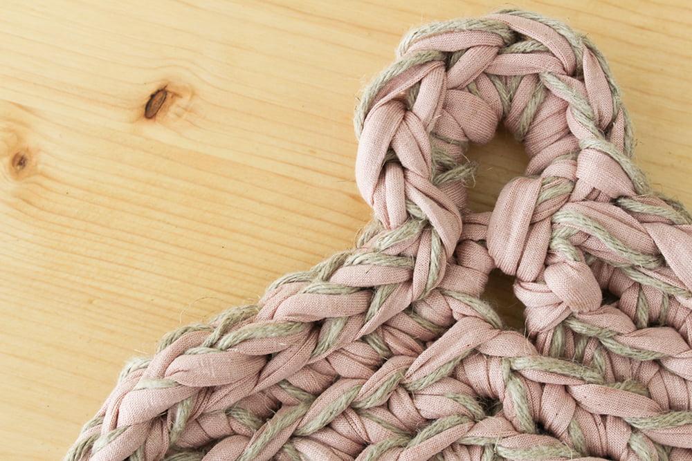 tapete de ganchillo redondo estilo rústico
