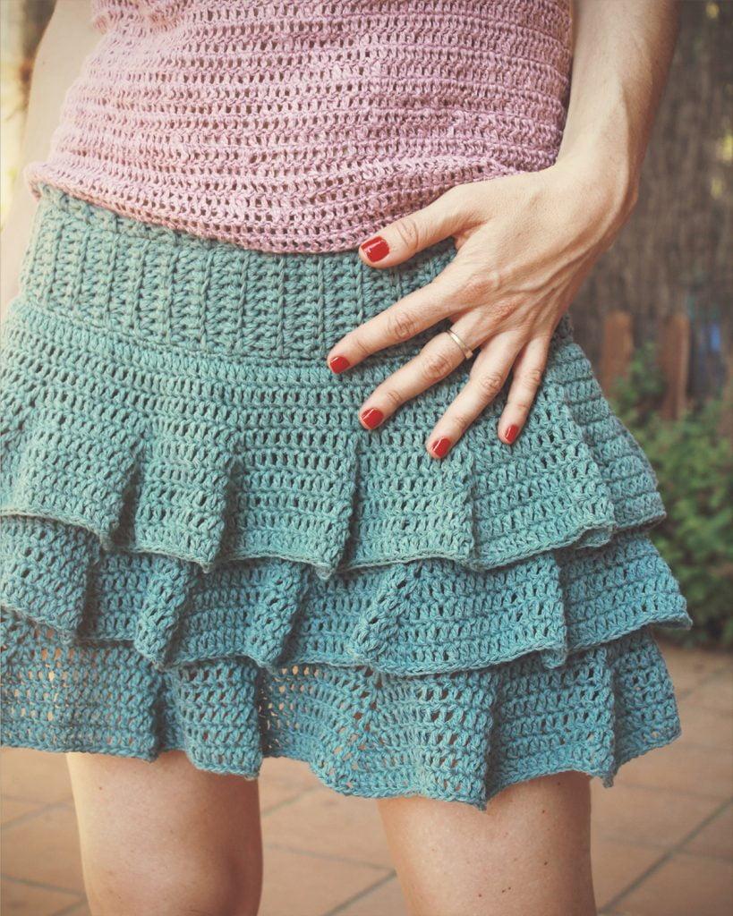 Falda de ganchillo | Falda Marina Bluü
