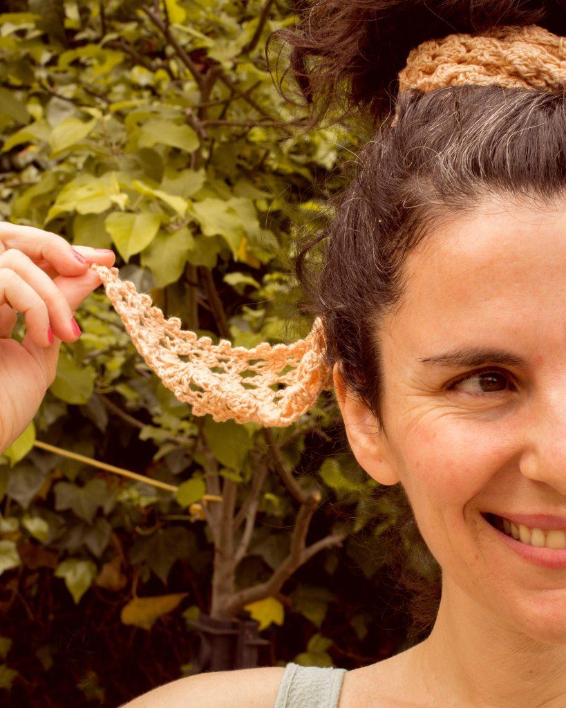 tutorial bandana pañuelo ganchillo marta bluu